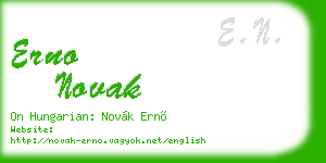 erno novak business card